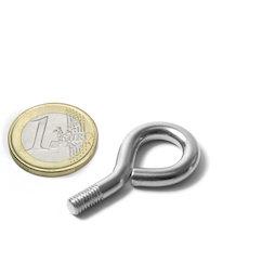 STE-11, Schrauböse 11 mm Innendurchmesser, Stahl, vernickelt, Gewinde M5
