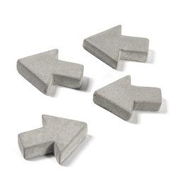 LIV-97/concrete1, Betonmagneten, pijlen, set van 4