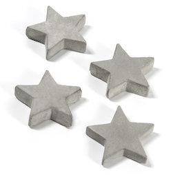 LIV-97/concrete2, Betonmagneten, sterren, set van 4