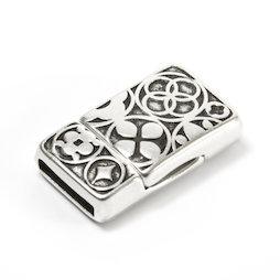 SV-K01, Chiusura magnetica per gioielli celtica, per bracciali, rettangolare