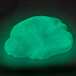 M-PUTTY-GLOW/ice, Silly Putty 'Glacial Ice', glows in the dark, light-blue, greenish-white, not magnetic!