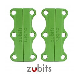 M-ZUB-03/green, Zubits® L, magnetic shoe closures, for sports shoes & tall people, green