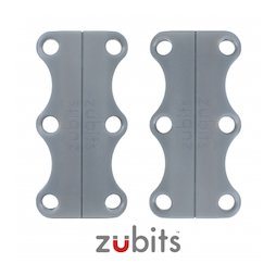 M-ZUB-03/grey, Zubits® L, magnetic shoe closures, for sports shoes & tall people, grey