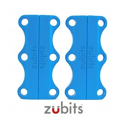 M-ZUB-03/sky, Zubits® L, magnetic shoe closures, for sports shoes & tall people, light blue
