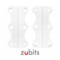 M-ZUB-03/white, Zubits® L, magnetic shoe closures, for sports shoes & tall people, white