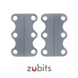 M-ZUB-01/grey, Zubits® S, lacci magnetici per le scarpe, per bambini & anziani, grigio