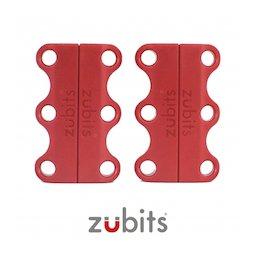 M-ZUB-01/red, Zubits® S, lacci magnetici per le scarpe, per bambini & anziani, rosso