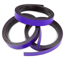MT-10/purple, Farbiges Magnetband 10 mm, zum selber Beschriften und Zuschneiden, Rollen à 1 m, violett