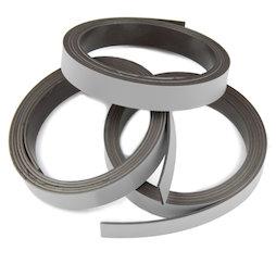 MT-10/silver, Farbiges Magnetband 10 mm, zum selber Beschriften und Zuschneiden, Rollen à 1 m, silberfarben
