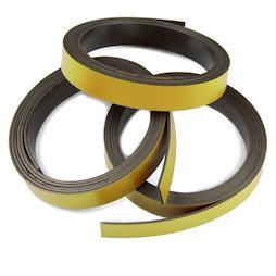 MT-10/gold, Farbiges Magnetband 10 mm, zum selber Beschriften und Zuschneiden, Rollen à 1 m, goldfarben