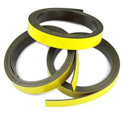 MT-10/yellow, Farbiges Magnetband 10 mm, zum selber Beschriften und Zuschneiden, Rollen à 1 m, gelb