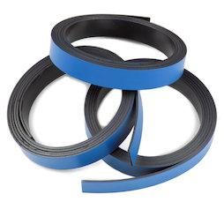 MT-10/blue, Farbiges Magnetband 10 mm, zum selber Beschriften und Zuschneiden, Rollen à 1 m, blau