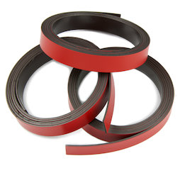 MT-10/red, Farbiges Magnetband 10 mm, zum selber Beschriften und Zuschneiden, Rollen à 1 m, rot