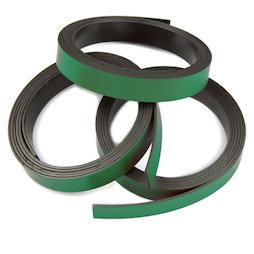 MT-10/green, Farbiges Magnetband 10 mm, zum selber Beschriften und Zuschneiden, Rollen à 1 m, grün