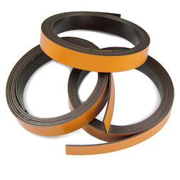 MT-10/orange, Farbiges Magnetband 10 mm, zum selber Beschriften und Zuschneiden, Rollen à 1 m, orange