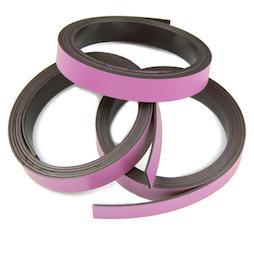 MT-10/pink, Farbiges Magnetband 10 mm, zum selber Beschriften und Zuschneiden, Rollen à 1 m, rosa