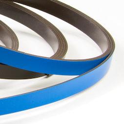 MT-07/blue, Bande magnétique couleur 7 mm, pour y écrire et pour découper, rouleaux d'1 m, bleu