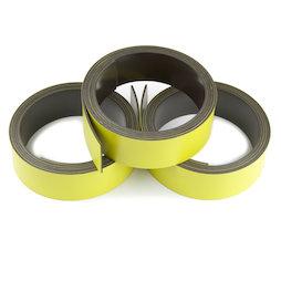 MT-20/yellow, Nastro magnetico colorato 20 mm, da scrivere e tagliare, rotoli da 1 m, giallo