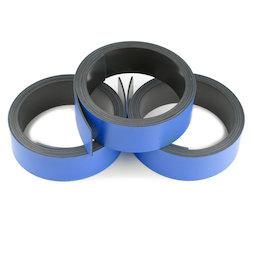MT-20/blue, Nastro magnetico colorato 20 mm, da scrivere e tagliare, rotoli da 1 m, blu