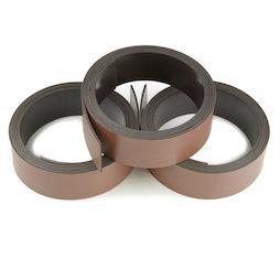 MT-20/brown, Nastro magnetico colorato 20 mm, da scrivere e tagliare, rotoli da 1 m, marrone