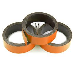 MT-20/orange, Nastro magnetico colorato 20 mm, da scrivere e tagliare, rotoli da 1 m, arancione