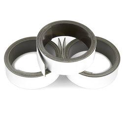 MT-20/white, Nastro magnetico colorato 20 mm, da scrivere e tagliare, rotoli da 1 m, bianco