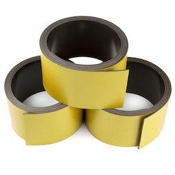 MT-30/gold, Farbiges Magnetband 30 mm, zum selber Beschriften und Zuschneiden, Rollen à 1 m, goldfarben