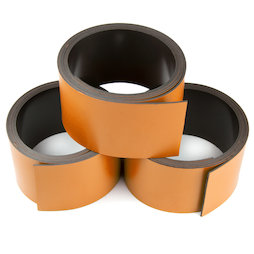 MT-30/orange, Cinta magnética de colores 30 mm, para rotular y cortar, rollos de 1 m, naranja