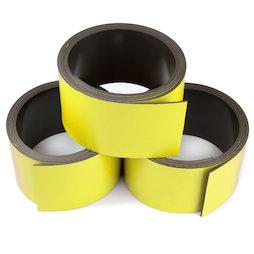 MT-30/yellow, Cinta magnética de colores 30 mm, para rotular y cortar, rollos de 1 m, amarillo
