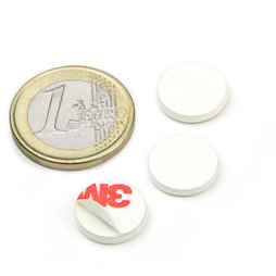 PAS-13-W, Metal disc self-adhesive white Ø 13 mm, as a counterpart to magnets, not a magnet!