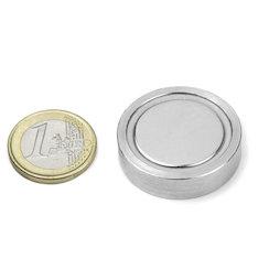 FGN-32, Glue-in pot magnet, Ø 32 mm