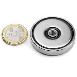 ITN-40, Pot magnet with internal thread M6, Ø 40 mm