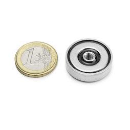 ITN-25, Pot magnet with internal thread M5, Ø 25 mm