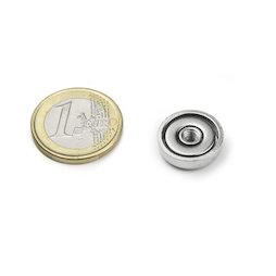 ITN-16, Pot magnet with internal thread M4, Ø 16 mm