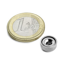 CSN-10, Countersunk pot magnet Ø 10 mm, strength approx. 1,3 kg