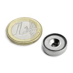 CSN-16, Countersunk pot magnet, Ø 16 mm, strength approx. 4 kg