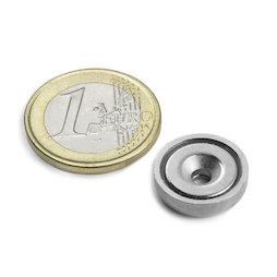 CSN-ES-16, Imán en recipiente avellanado, Ø 16 mm, fza. sujec. aprox. 6,9 kg