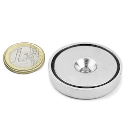 CSN-40, Countersunk pot magnet Ø 40 mm, strength approx. 52 kg