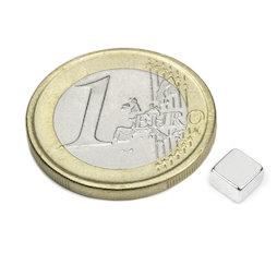 Q-05-05-03-N52N, Quadermagnet 5 x 5 x 3 mm, Neodym, N52, vernickelt