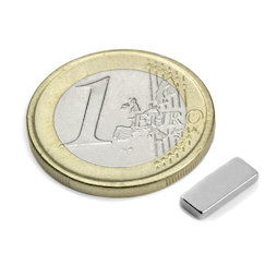 Q-10-04-1.5-N, Quadermagnet 10 x 4 x 1,5 mm, Neodym, N50, vernickelt