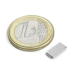 Q-10-05-1.5-N, Quadermagnet 10 x 5 x 1,5 mm, Neodym, N50, vernickelt