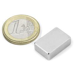 Q-19-13-06-LN, Block magnet 19,05 x 12,7 x 6,35 mm, neodymium, N42, nickel-plated