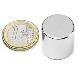 S-20-20-N, Disc magnet Ø 20 mm, height 20 mm, neodymium, N42, nickel-plated