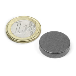 S-20-05-T, Disc magnet Ø 20 mm, height 5 mm, neodymium, N42, teflon-coated