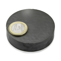 FE-S-60-15, Disc magnet Ø 60 mm, height 15 mm, ferrite, Y35, no coating