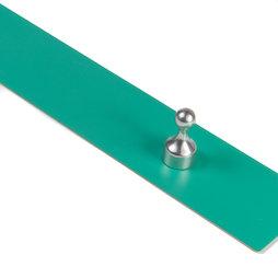 MB-18/green, Magnetleiste selbstklebend 50 cm, selbstklebender Haftgrund für Magnete, aus Metall, grün