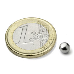 K-05-N, Sphere magnet Ø 5 mm, neodymium, N35, nickel-plated