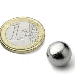 K-13-C, Bille magnétique Ø 12,7 mm, néodyme, N42, chromé
