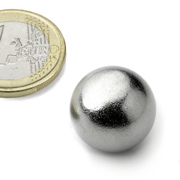 K-19-C, Sphere magnet Ø 19 mm, neodymium, N38, chrome-plated