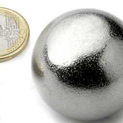 K-40-C, Kugelmagnet Ø 40 mm, Neodym, N40, verchromt